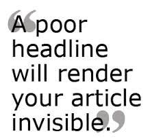 Are Your Headlines Killing Your Sales?